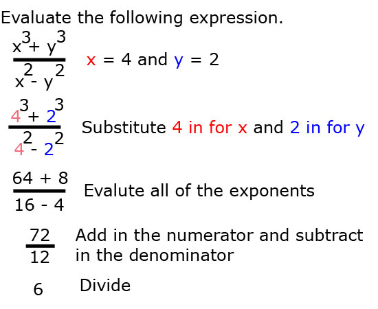 Example 3 Order of Operations
