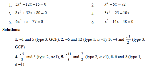l2 10solutionspng - Solving Quadratic Equations By Factoring Worksheet